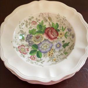 4 soup bowls Royal Doulton pattern Malvern 6197